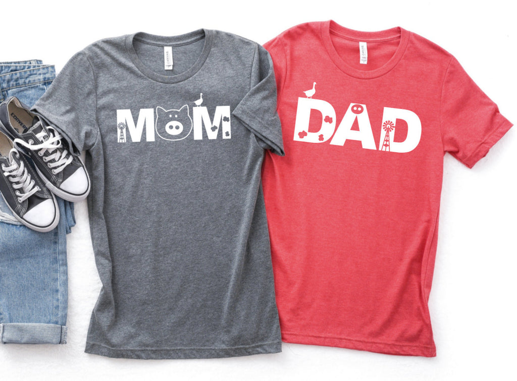 Farm Mom or Dad Birthday Theme Shirts - Birthday Party T