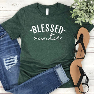 Blessed Auntie T-shirt - Auntie Shirt - Blessed Shirt - Gift For Aunt - Birthday Gift For Aunt - Auntie To Be Shirt