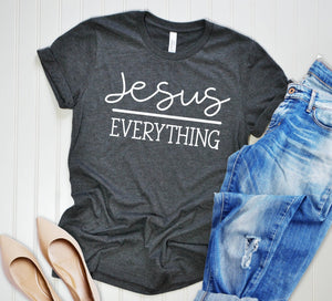 Jesus Over Everything Unisex T-shirt - Christian Shirt - Religious Shirt - Faith Shirt - Positive Shirt - Motivational T-shirt
