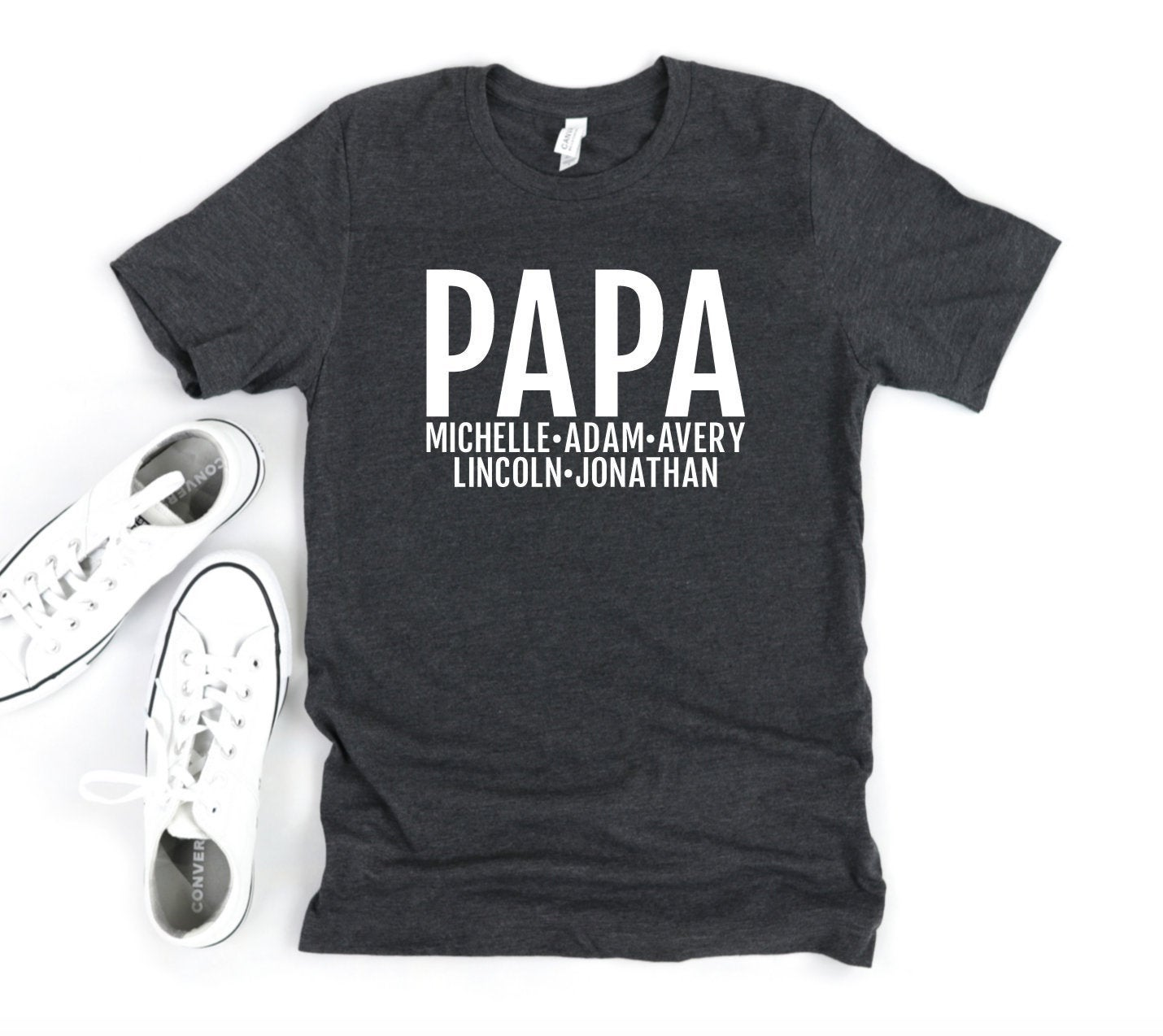 Personalized Papa T-shirt With Grandkids Names - Papa Shirt - Gift For Papa - Father's Day Gift Idea - Papa T-shirt
