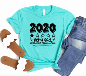 2020 1 Star Very Bad Would Not Recommend Unisex T-shirt - Funny Shirt - Funny Adult Shirts - Sarcasm Shirt - Quarantine 2020 Shirt