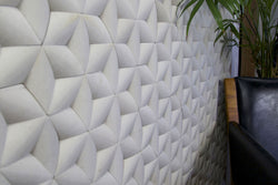 Tridimensional White Tile for Wall