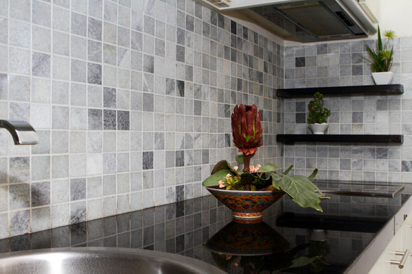 Squared Mosaic Tile for Kitchen
