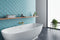 Bathtub and Bathroom inspiration with Azure Elongated Glass Tile