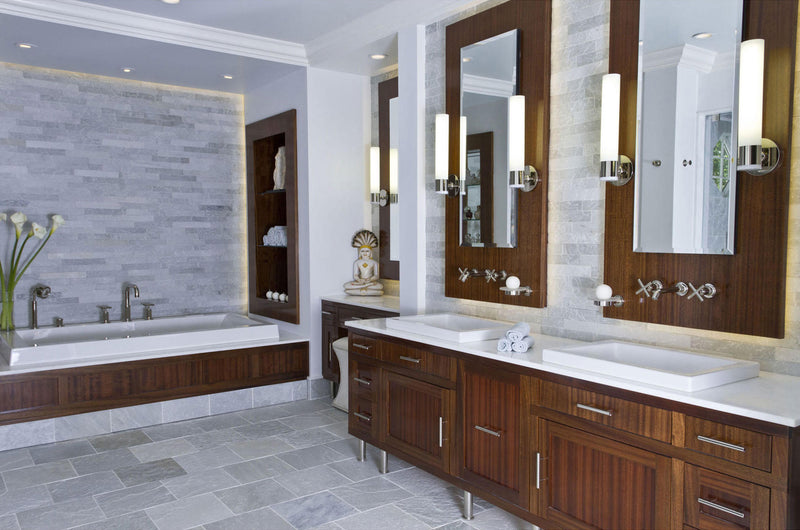 Bathroom Inspiration Wood and White