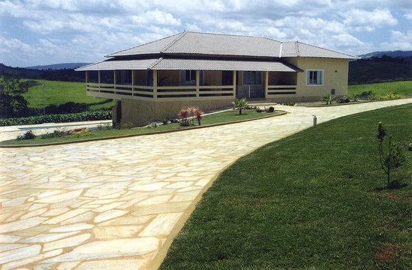 Paver Flagstone Pathway & Patio Stone Entry
