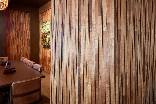 Restaurant Decor using Wood Wall