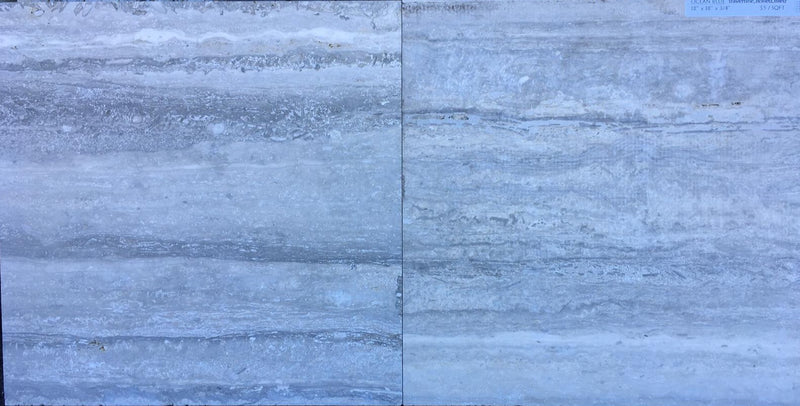 OCEAN BLUE Travertine honed/filled - Tile Series