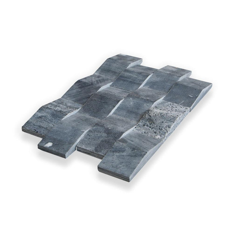 SILVER QUARTZITE, NEW WAVE (Dimensional Tile) - Island, Profiles Series