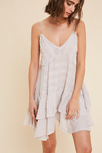 Oatmeal Cotton Mini Dress