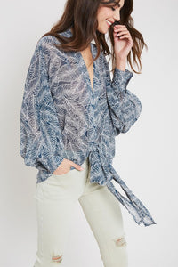 Aibonito Self Tie Blouse