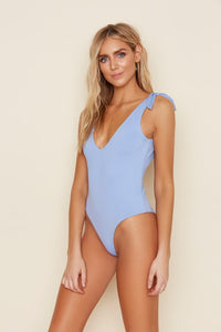 French Violet One Piece Swimwear