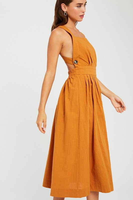 Butter Scotch Apron Midi Dress