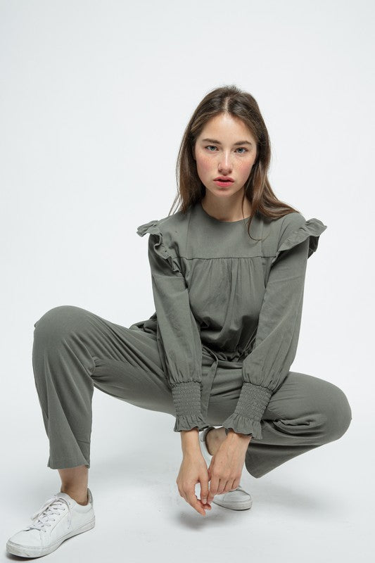 Succulent Leaves Jumpsuit
