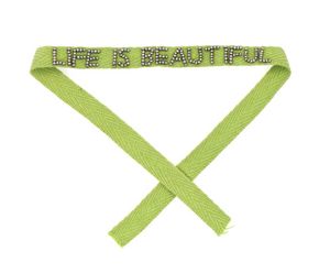 Life is Beautiful Beaded Ribbon Bracelets