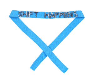 Shift Happens Beaded Ribbon Bracelets