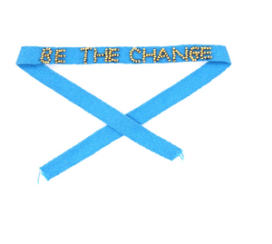 Be the Change Beaded Ribbon Bracelets