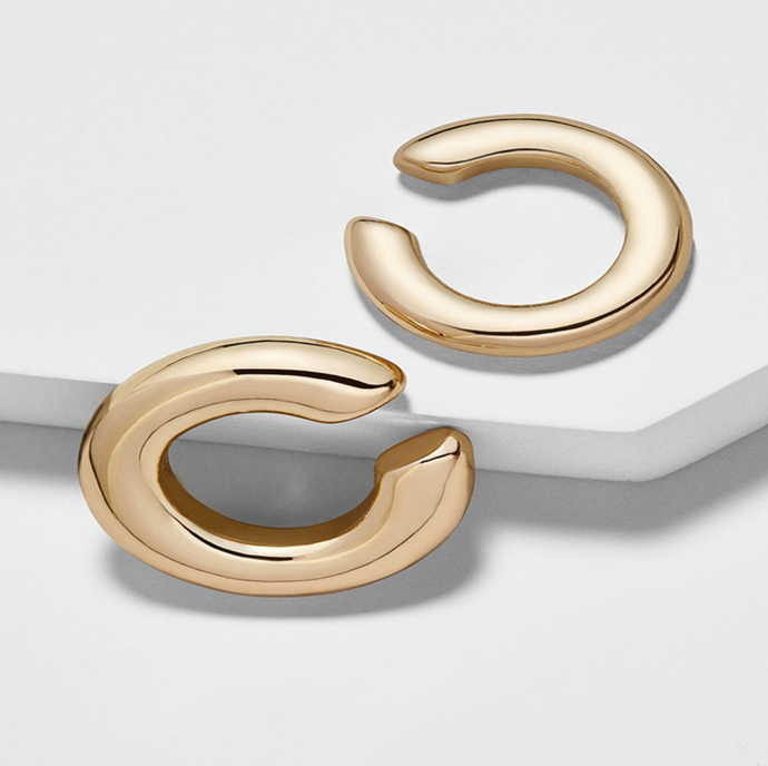 Double Gold Ear Cuff
