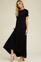 Blackheart Round Neck Dress with Pockets