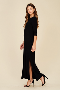 Maxi Dress with High Slit