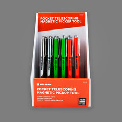 15XDISP - 30 Piece Multi-Color Magnetic Pick-Up Tool Counter Top Retail Display