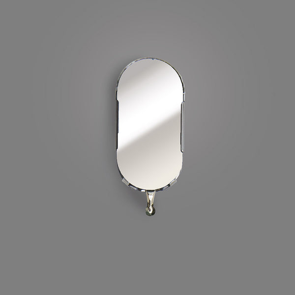 "B-2HD - Oval 1"" x 2"" Inspection Mirror, Head Assembly Only"