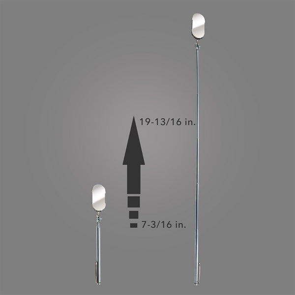 "B-2T - 1"" X 2"" Oval Telescopic Inspection Mirror"