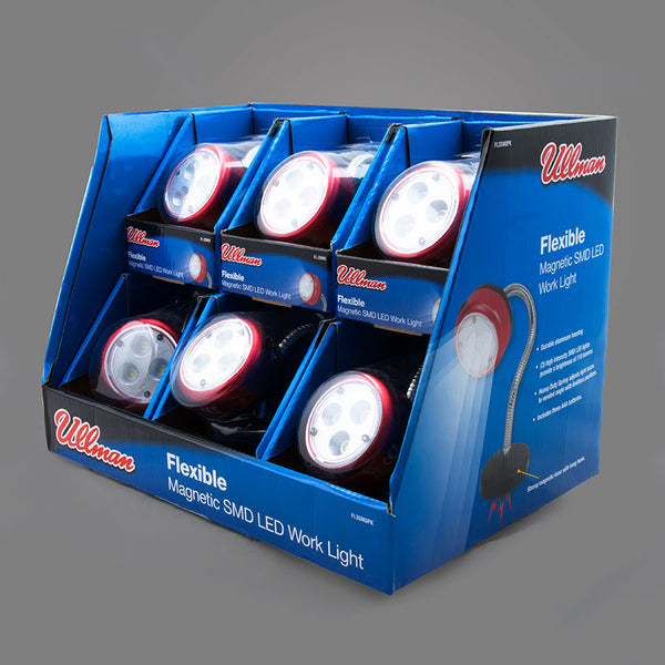 FL3SMDPK - 6 Pack Display of Flexible 3 SMD LED Magnetic Work Lights