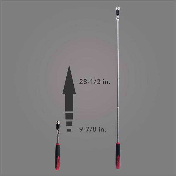 HTLP-1 - Adjustable Telescoping Magnetic Pick-Up Tool with POWERCAP® and LED Light