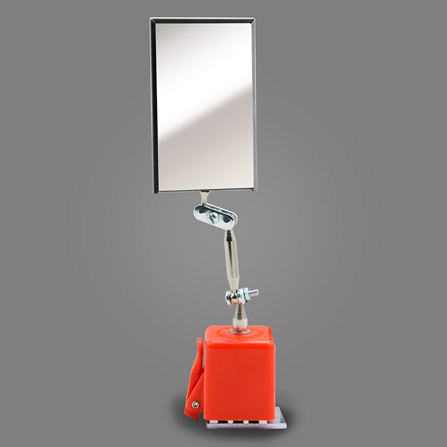 "MX-2 - Rectangular 2-1/8"" X 3-1/2"" Magnifying Inspection Mirror with Magnetic Base"