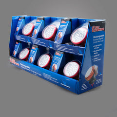 RT2LTCH6PK - 6 Pack Display of Rechargeable 24 LED Rotating Magnetic Work Lights