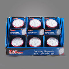 RT6SMDPK - 6 Pack Display of 6 SMD LED Rotating Magnetic Work Light