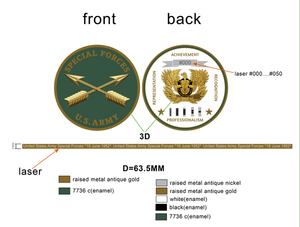 "Limited Edition Regimental WO Coin ""SF"""