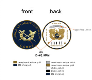 "Limited Edition Regimental WO Coin ""JAG"""