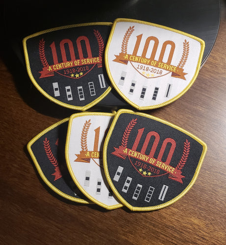 100th Anniversary woven patch