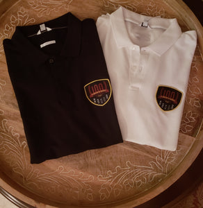 100th Anniversary Polo With BLACK or WHITE Patch