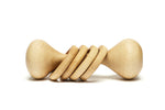 Tiny Treewood Co Wooden Baby Rattle
