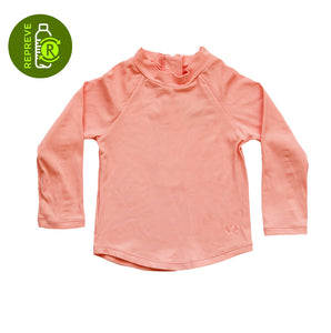 Ribbed Rashie Long Sleeve - Coral