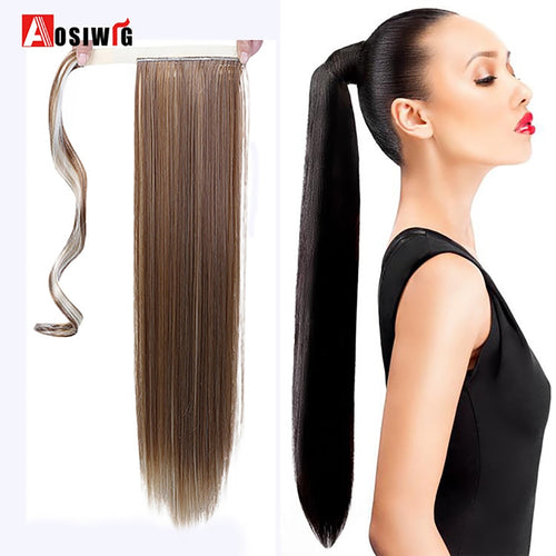Fake Hair Ponytail Long Straight Hair Pieces