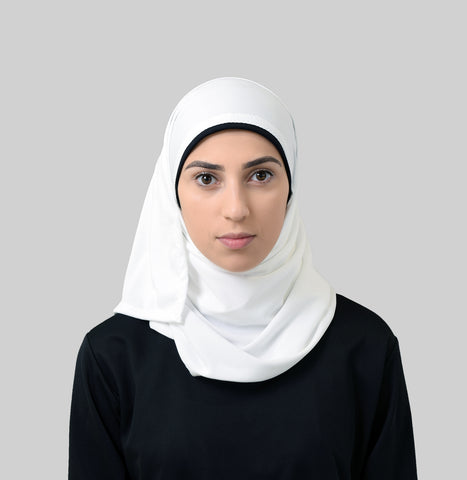 Free Wrap Sports Hijab - White