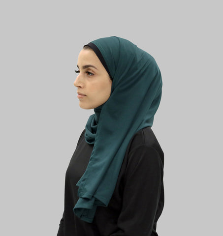 Free Wrap Sports Hijab - Forest Green