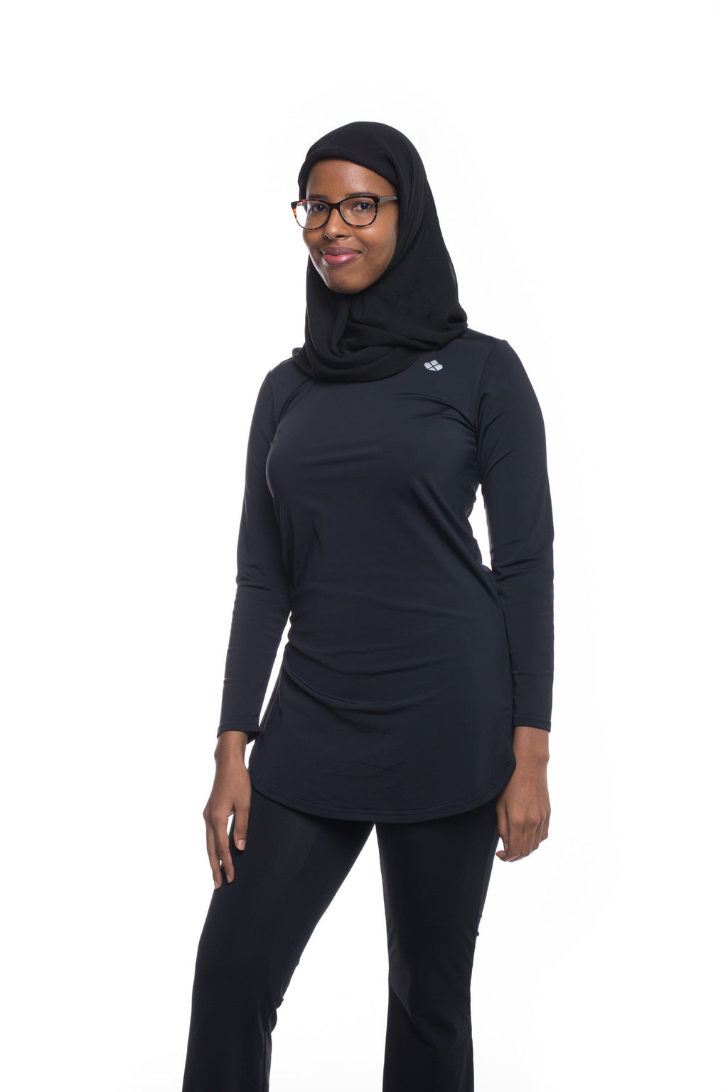Aurora Long-Sleeve Recycled Top- Black