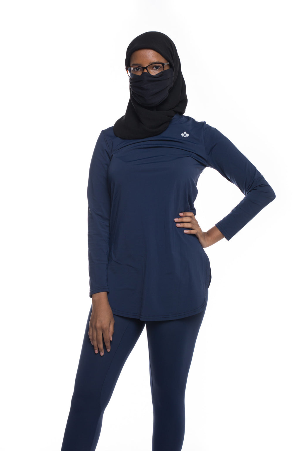 Aurora Long-Sleeve Recycled Top- Navy