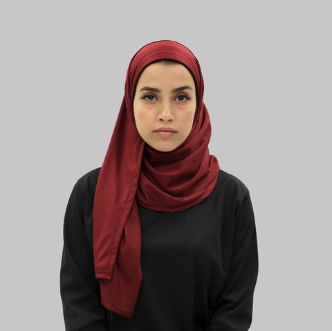 Free Wrap Sports Hijab - Maroon