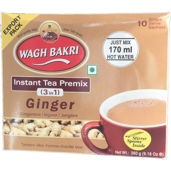 Wagh Bakri Instant Tea Premix 3 In 1 Ginger