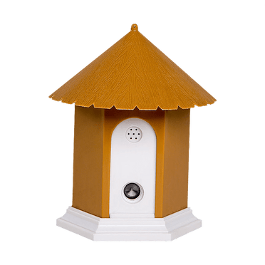 Tan Bark Control Birdhouse – Front View
