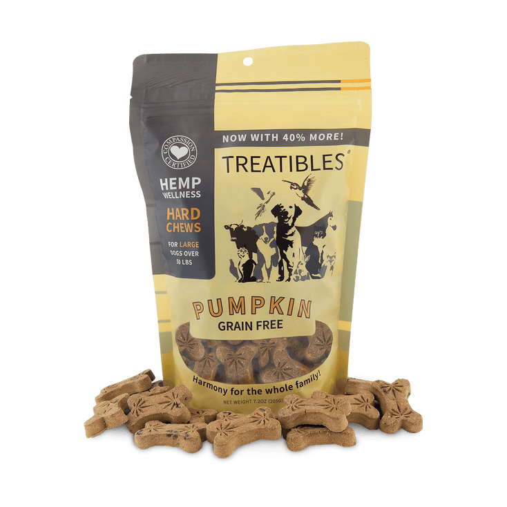 Treatibles® Hemp Oil Pet Chews – Pumpkin 4mg (45-ct.)