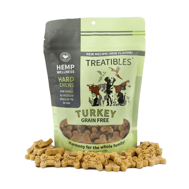 Treatibles® Hemp Oil Turkey Pet Chews – 1 mg