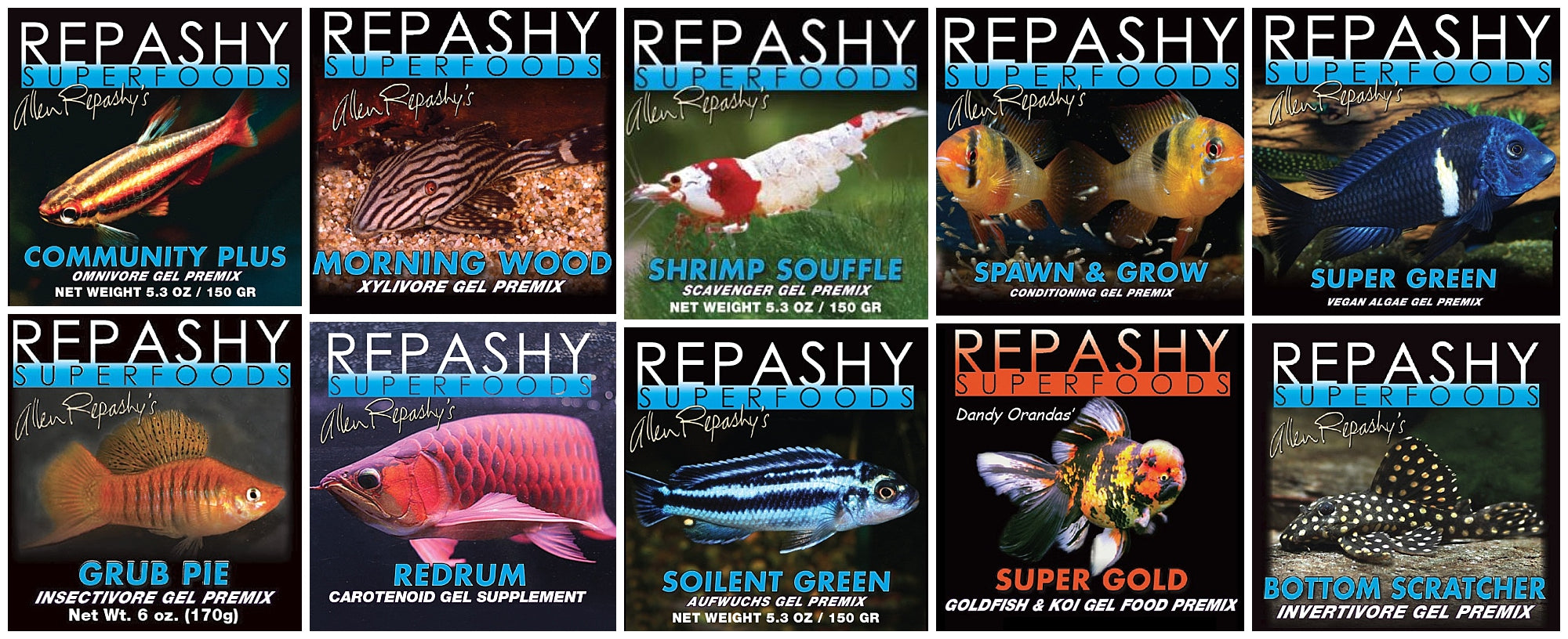 R&L Aquariums repashy superfood tropical freshwater saltwater fish food for aquarists