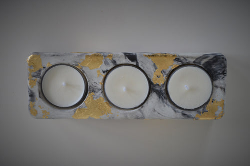 Marbled Concrete Tealight Holder